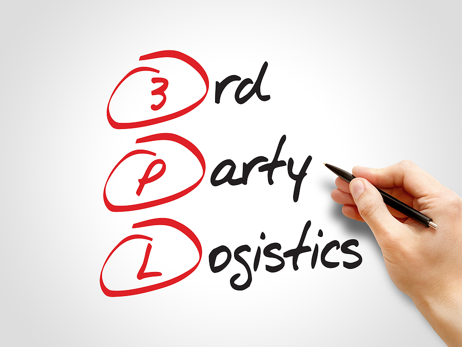 3rd Party Logistics acronym business concept