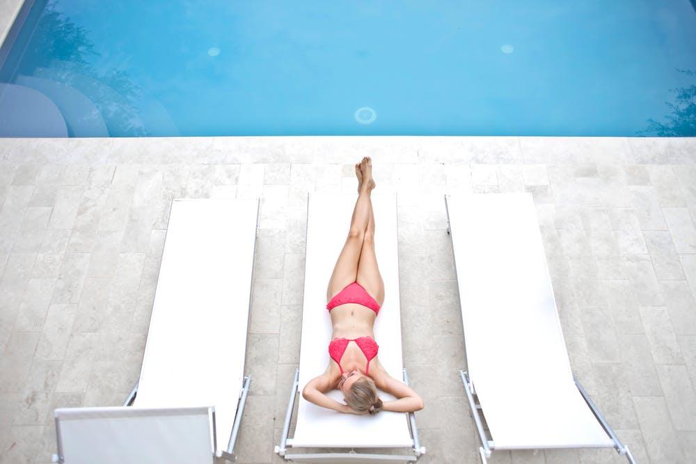 Woman wearing a minimal bikini